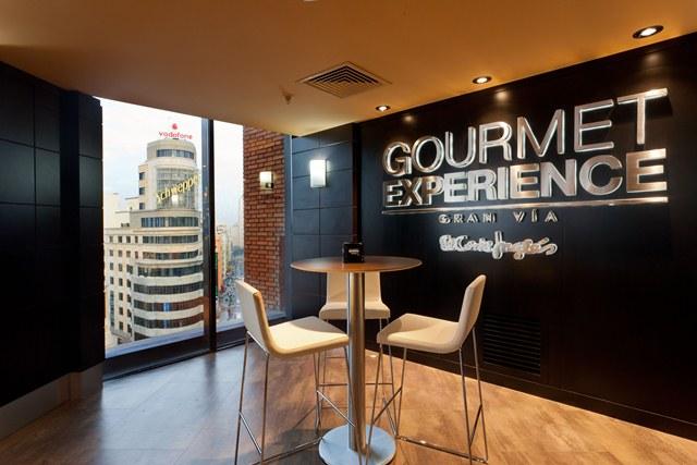 Imagen de la Gran Vía desde el Gourmet Experience de El Corte Inglés de Callao
