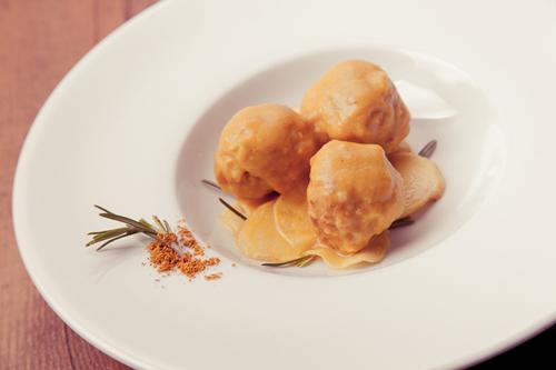 Albóndigas de pavo y curry amarillo tailandés, La Colchonería de La Camarilla