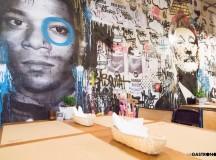 Mural con Basquiat, pionero del Street Art, y el actor Bill Murray de Bestia  ©Manuela Henao // www.manuelahenaocomercial.wordpress.com