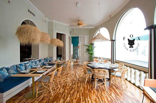 Terraza de estilo colonial. Restaurante FOX