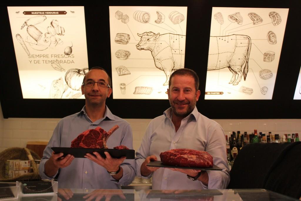 Fernando de la Raza y Ángel Marugán, propietarios de La Vaca y la Huerta © LAGASTRONOMA