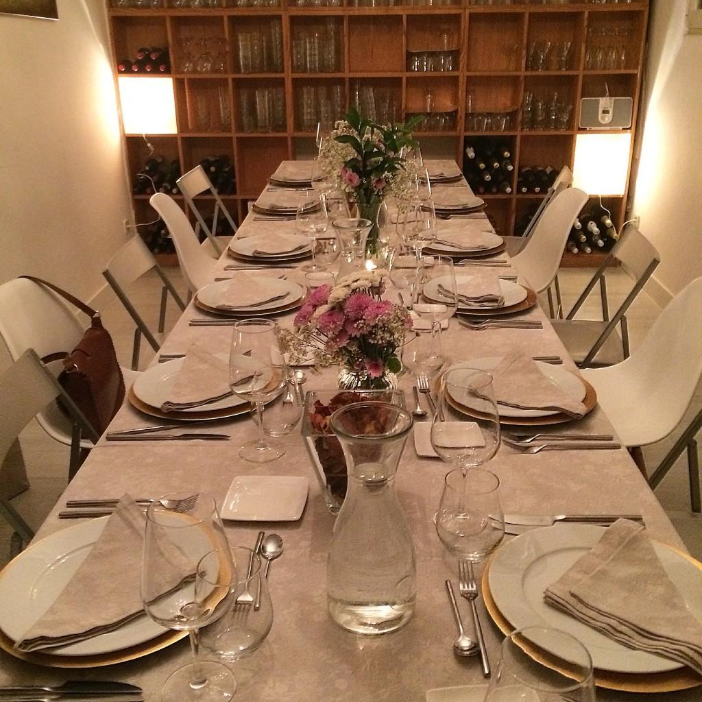 Impresionante puesta en escena en la cena privada organizada por The Good Food Company para mis amigas y yo
