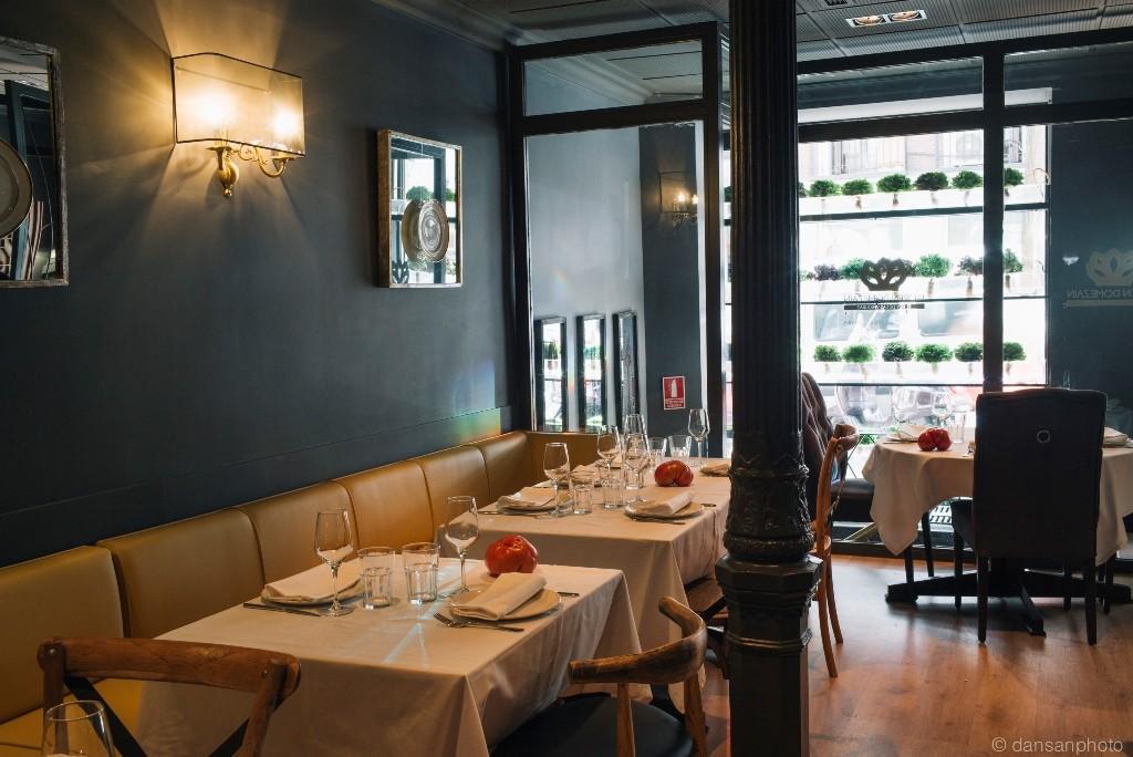 Comedor del restaurante Floren Domezain