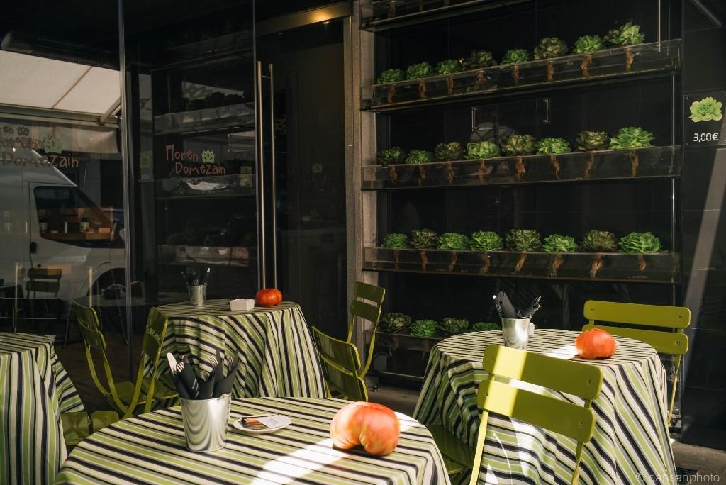 El restaurante de Floren es el primero en Madrid que alberga un auténtico huerto ecológico en su interior