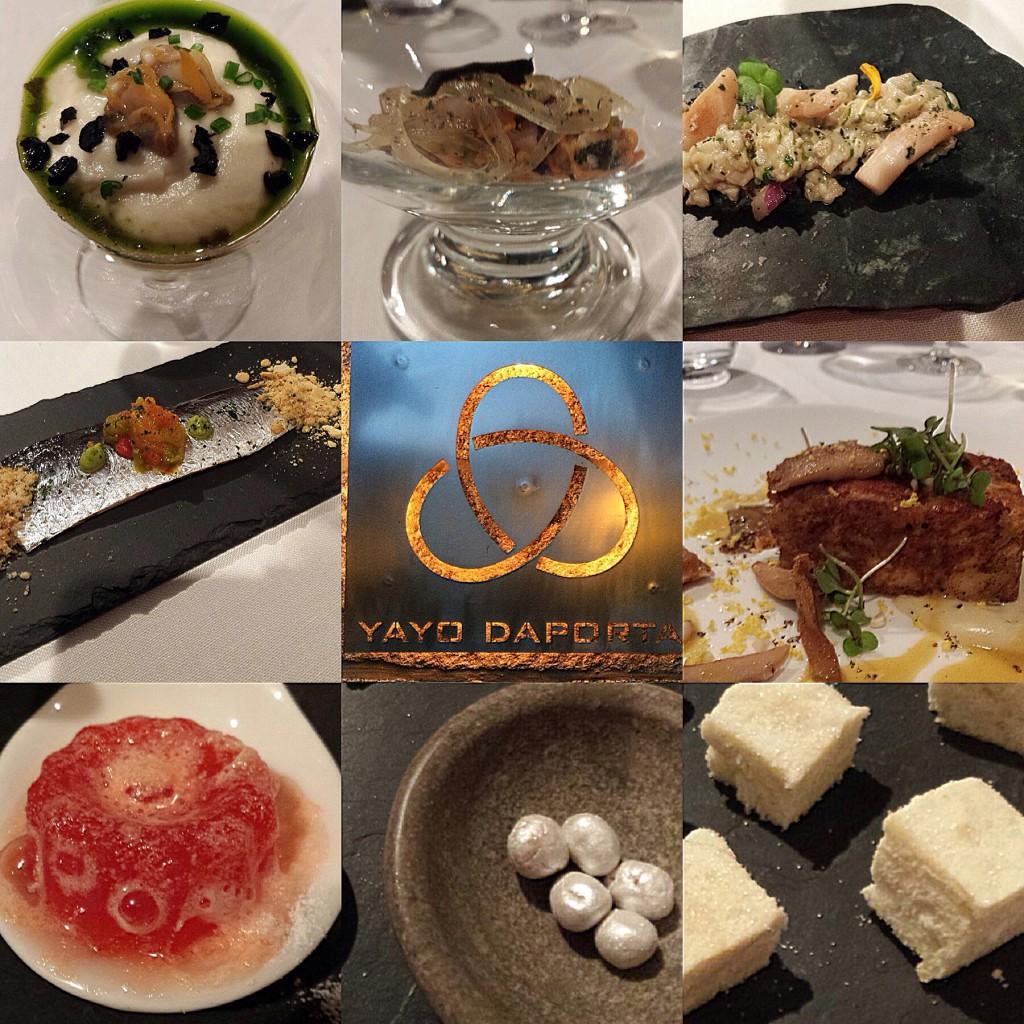 En el restaurante estrella Michelin del gallego Yago Daporta, pude disfrutar de un menú maridado con alguno de los vinos de Las Bodegas Martín Códax
