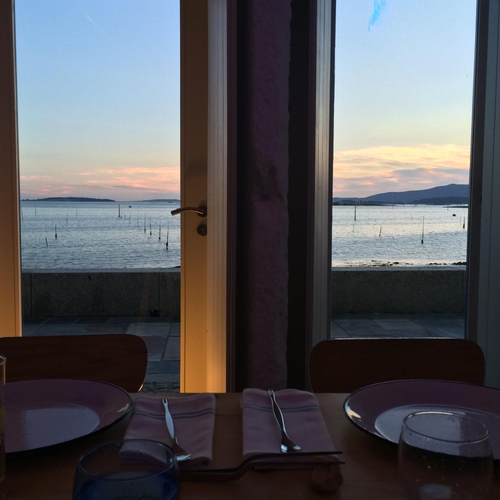 Vistas desde el restaurante O Loxe Mareiro, en Vilagarcía de Arousa