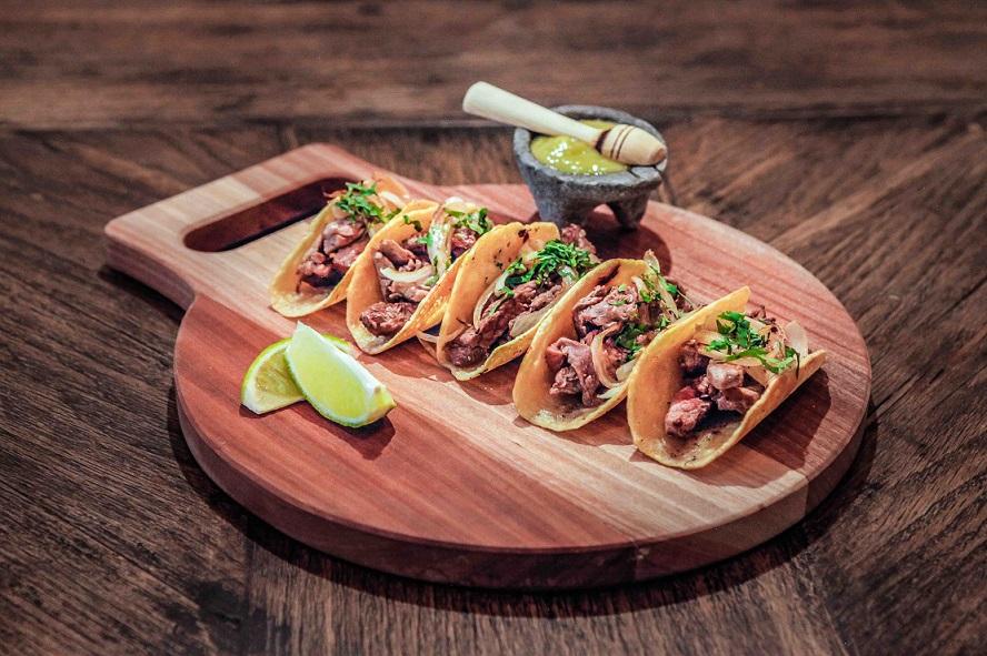 Tacos de solomillo de ternera. Restaurante Tepic
