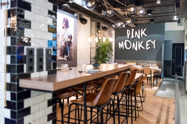 La decoración de Pink Monkey gira en torno a lo urbano y lo chic