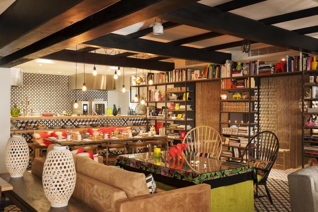 Interior de BiBo, restaurante de Dani García en Puente Romano