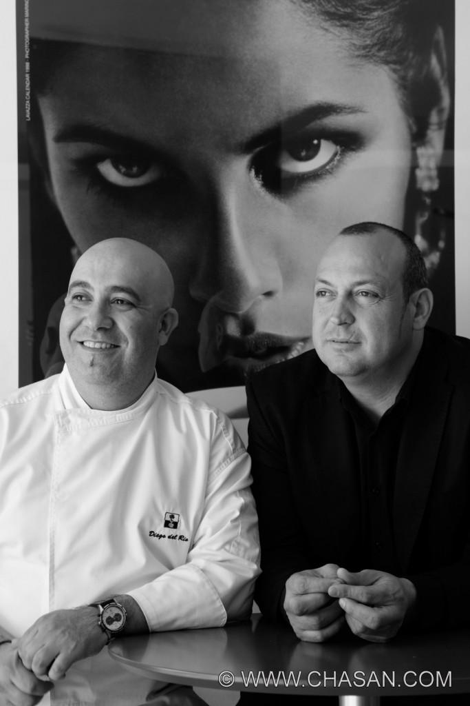 Paco García, director, y Diego del Río, chef hacen un tándem perfecto en la sala y cocina de El Lago