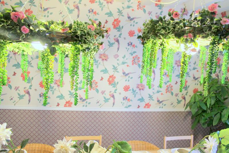 Detalle del Salón de las flores. Restaurante El Sueño de Alicia ©LAGASTRONOMA