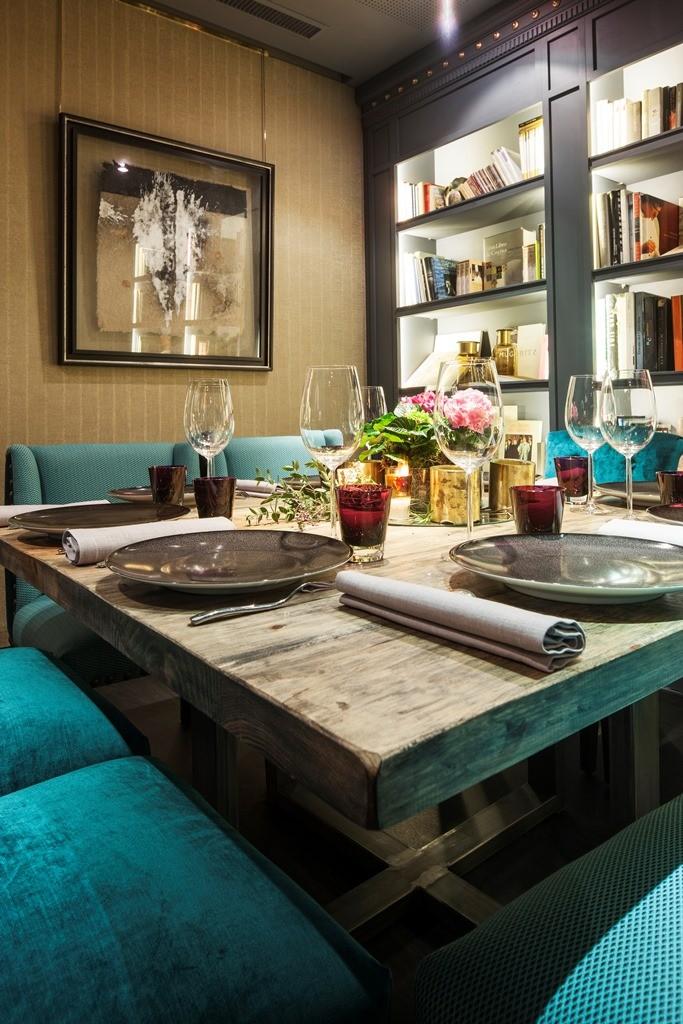 Detalle de mesa. Restaurante Carlos Oyarbide