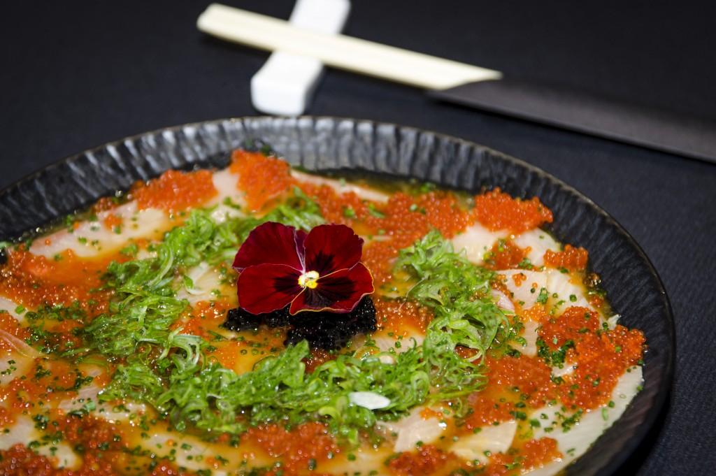 Ceviche de Pez Limón. Restaurante Enso Sushi