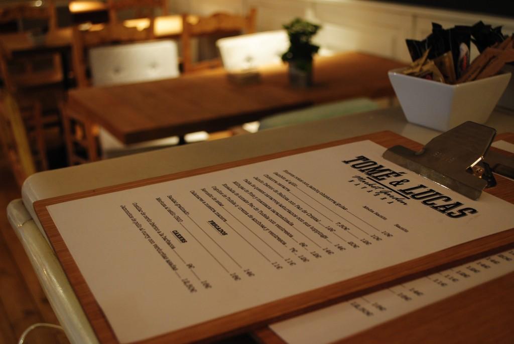 Carta del Restaurante Tomé & Lucas