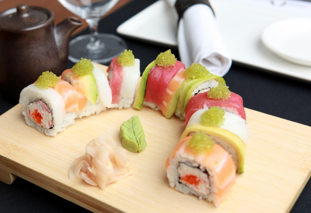 Uramaki Arco Iris. Restaurante Enso Sushi