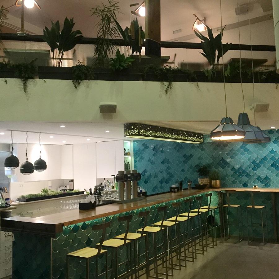 Espacio informal del restaurante Kulto