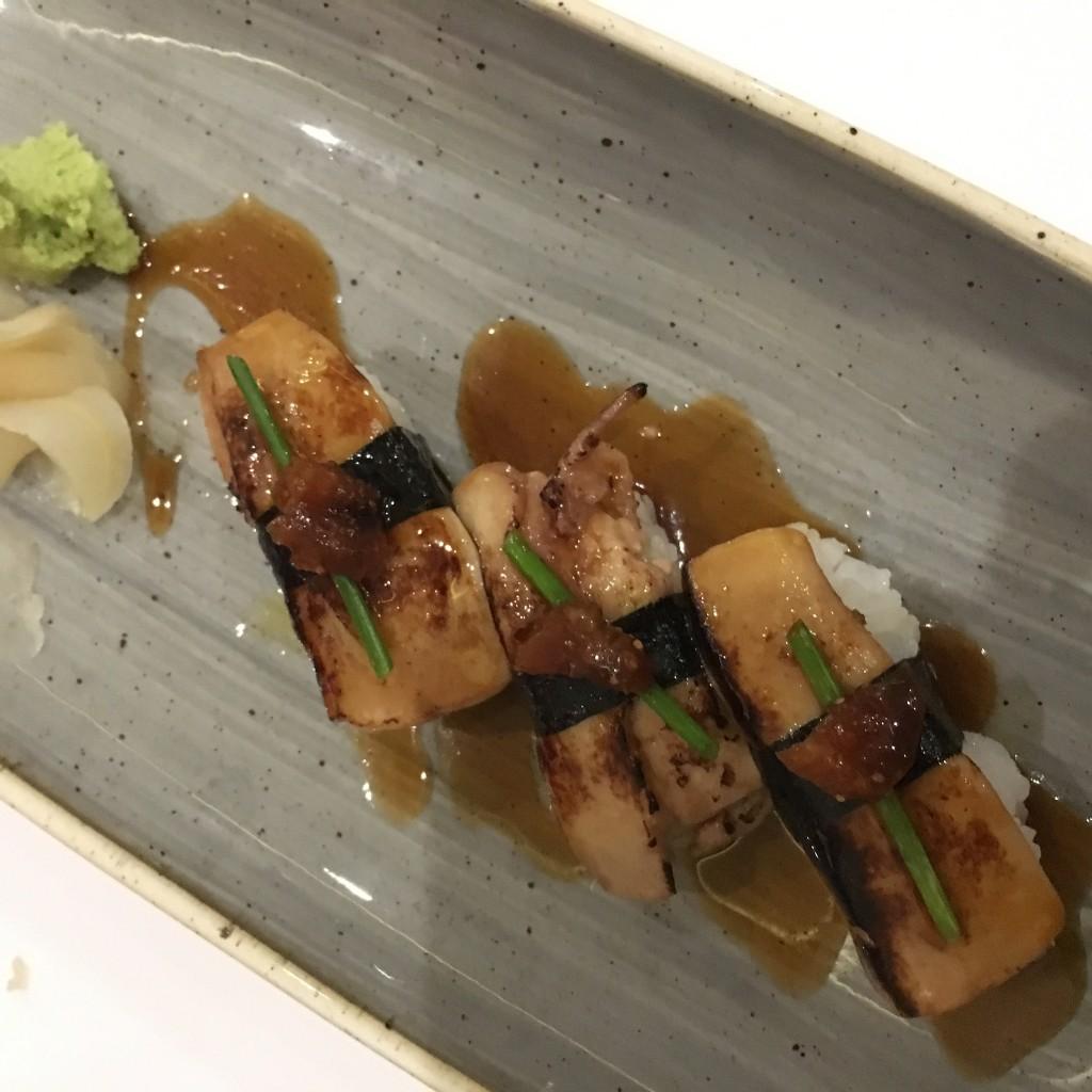 Niguiri de foie. Restaurante MAITAKE ©LAGASTRÓNOMA