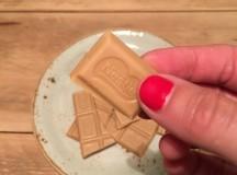 El chocolate Blond tiene sabor a caramelo