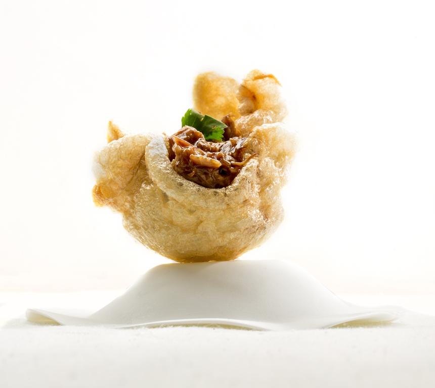 Dumpling de oreja. Restaurante A'BARRA