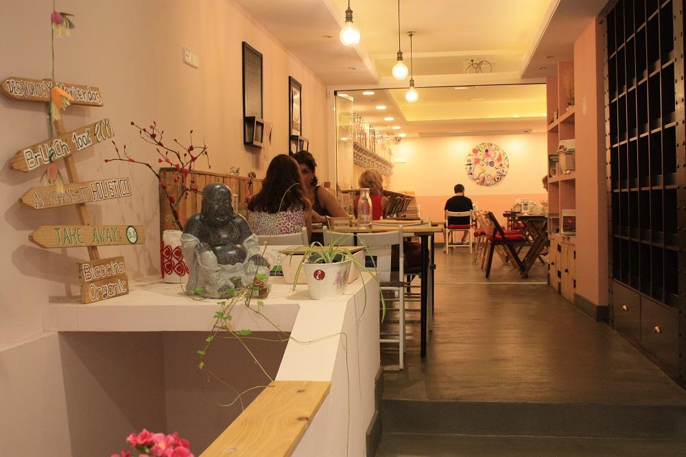 Bicocina Organic. Interior del restaurante.