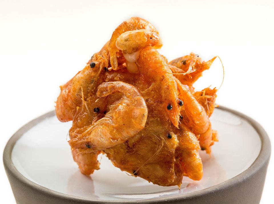 Buñuelo de camarones. A'BARRA
