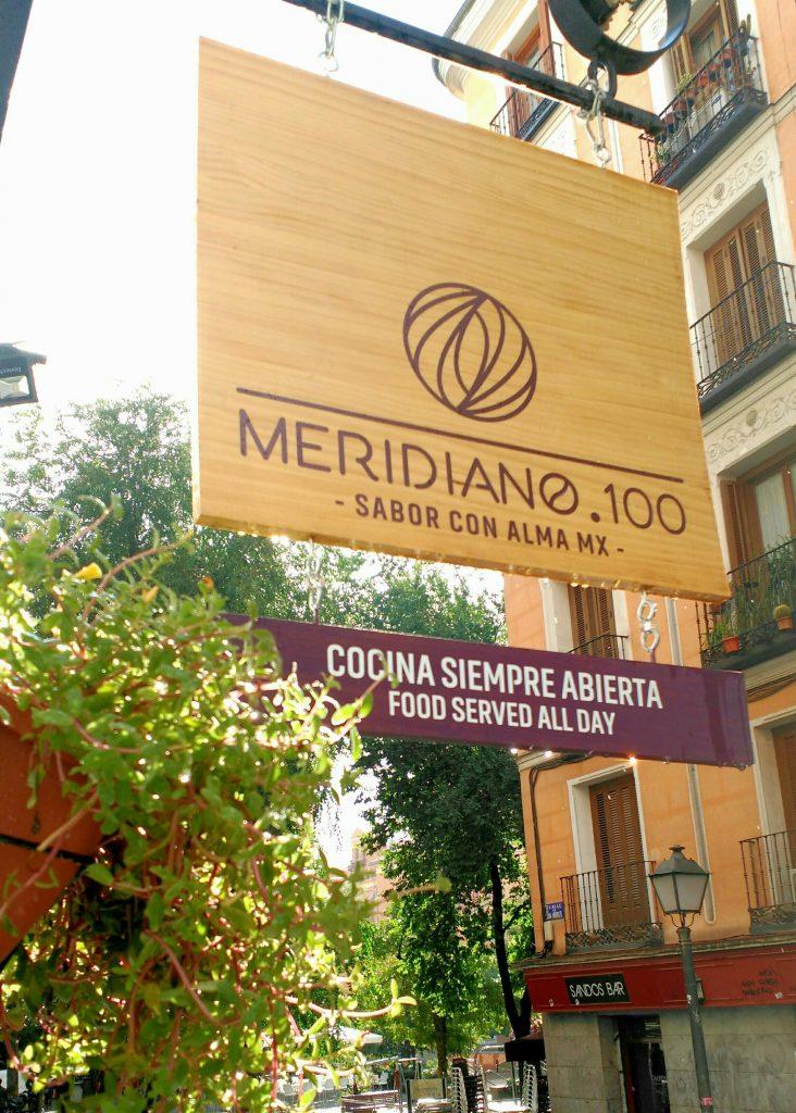 Exterior de Meridiano 100, en Malasaña