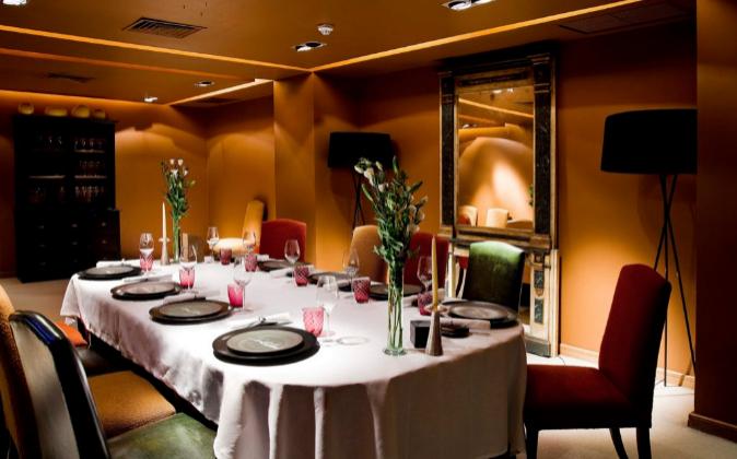 Reservado del restaurante Santceloni