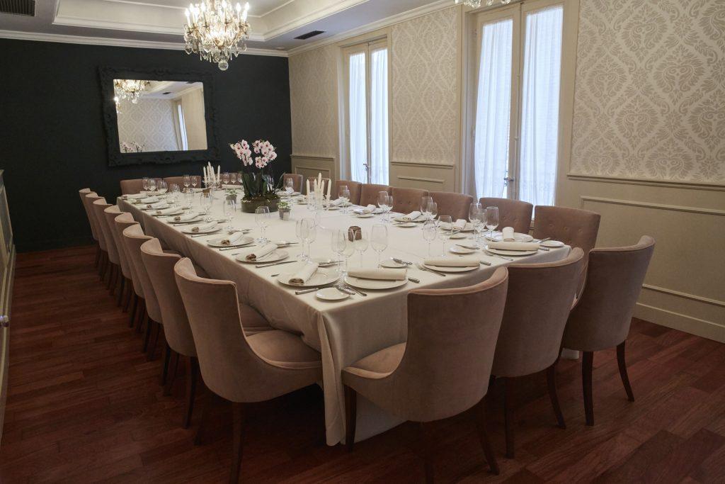 Uno de los reservados del Restaurante Club 31