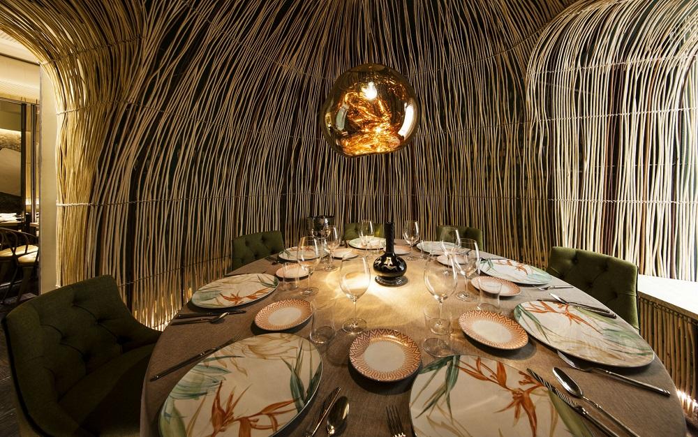 Detalle del interior del restaurante Tampu