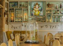 La diosa Era preside el interior del restaurante Raro Rare
