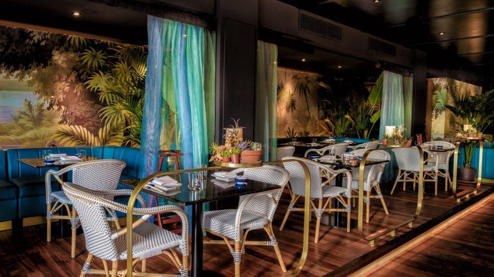 Terraza del restaurante Zela, elnuevo asiático de Ibiza